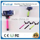 Wholesale Extendable Handheld Monopod Remote Bluetooth Selfie Stick and self camera stick