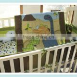 emboidery baby boys dinosaur bedding set crib bedding set from professional manufacturer
