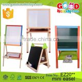 2016 New Design Pinewood Material Kids Easel with Accessories Double-Side Drawing Borad Set Wooden Mini Easel for Children                                                                         Quality Choice