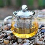 Hot Selling glass teapot with stainless steel infuser indian teapot