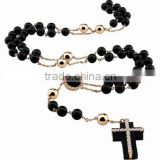 OEM necklace jewelry catholic rosary 59 beads with cross pendant