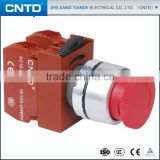 CNTD Small volume Red/Green/Yellow/White/Black Emergency Pushbutton Switch with 22mm Mounting Hole (C2PNR3)