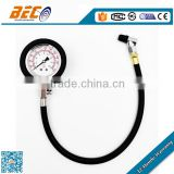 60mm heavy vehicle tyre pressure guages with long hose
