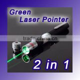 2 in 1 Green Laser Pointer & Kaleidoscopic morphing Effects Pen 50mW.E