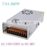 AC 110V/220V to DC 48V 7.5A 360W Voltage Transformer Switch Power Supply Lighting Transformers for Led Strip