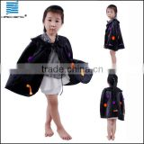 Halloween Party black Satin Cape Costumes for children