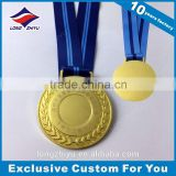 Professional gold plated laser engraving metal medal blank