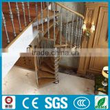 Yudi patent /classical indoor spiral aluminium staircase for villa decoration /professional design