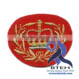 Hand Embroidered Military Cap Badge Patch Emblem