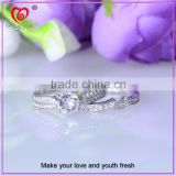 custom 925 sterling silver wedding finger ring set double ring set 925 sterling silver ring set