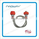 Nadway customized Gray Black and orange SAA 10A Australian transparent extension leads Sell Cable Drum cord reel extension lead