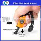 magnesium flint stone fire starter with compass and emergency whistle