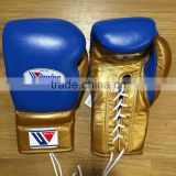 WINNING BOXING - 16oz BLUE/GOLD - Professional Sparring Gloves - Grant Reyes