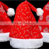Hot Promotion Wholesale Christmas Gifts Santa Claus Hat Fashion Soft Classical Christmas Hats
