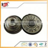 Fashion Casual metal jean button, comes in various color and size and style, sewing accessories wholesale