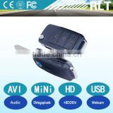 hd 5mp 1280*960 30fps mini dv dvr car key hidden camcorder with USB interface longtime recording support insert 16G TF card