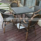 Leisure bamboo cafe outdoor dining garden set