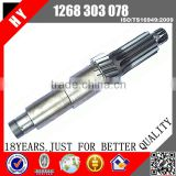 Factory price Daewoo/Higer/Yutong/Ankai zf transmission bus parts s6-90 Gearbox Lay Shaft, 1268 303 078