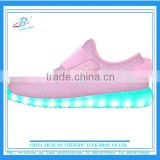 pink cute girls kids LED shoe, breathable kids LED running shoe, KIDS LED sport shoe with high quality
