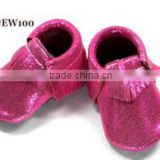 Baby Moccasins - Leather Tassels Infant Toddler Pre-walker Crib Shoe (Pink) (6-12 month)                                                                         Quality Choice