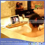 Hot sale Modern design Eco-friendly Bamboo bath caddy for Bathroom