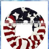 stars and stripes knitting scarf neckwear ,100%acrylic Winter Scarf ,Mens' Winter Scarf