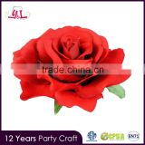 Hight Quality Products Artificial Flower Clip Flower Rose Hair Clip Plastic Clip Accessory For Valentine
