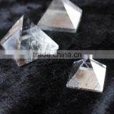 High Quality Natural Clear Quartz Crystal Stone Pyramid Home Decor For Sale