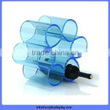 Welcome Wholesales special acrylic table top wine display rack