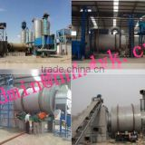 Quartz sand three cylinder roation dryer connected with natural gas burner