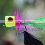 Yellow Head Foam Popper Bass Fly Fishing Fly Fishing Flies Lures
