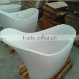 China facrory Portable Freestanding Solid Surface Bathtub,artificial marble freestanding bath tub