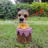Resin fu dog statues decor