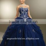 Top beautiful sweetheart neckline organza ball gown quinceanera dress with beaded bodice XZ-pd1263