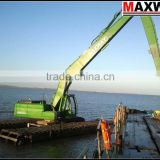 3 chains Floating Pontoon of Amphibious Excavator , Suitable to 20 to 23Ton Class Excavator , Model: MAX200PU