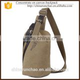 100% cotton washed canvas vintage chest bag cute over college shoulder bags chest cross body bag