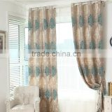 2016 European style polyester jacquard living room luxury curtain customized size luxury curtain