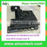 mid 2012 year Laptop Mainboard for MacBook pro A1278 Laptop Motherboard A1398 A1465 A1466 A1502 core i5 System board
