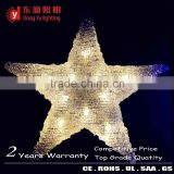 Jamaica big commercial public decoration star shape LED christmas lights ABS or Acrylic 3d LED motif star