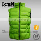 2015 Fashionable high quality eur standard 100% breathable polyester men colorful new design waistcoat with low price