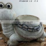 cheap fibreclay flower pot/ceramic flower pots/animal shape flower pot
