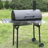 Barrel BBQ Grill With Smoker