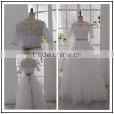 Real Pictures White Lace Floor Length Custom Made Long Formal Bridal Robe De Mariee BW320 short sleeve cheap wedding dresses