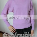 Ladies pure cashmere boat neck sweater