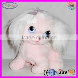 D663 Soft Furry Repeatable Singing Dog Musical Plush Toy in Shenzhen