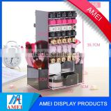 wholesale clear acrylic rotating cosmetic lipsticks tower organizer