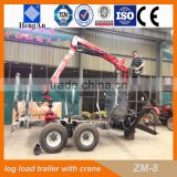 CE forestry trailer /ATV log trailer with crane /forestry machine