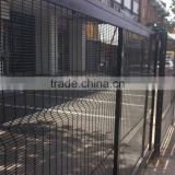 Blue powder coated welded mesh fence around public building, welded wire mesh garden/zoo/park fence