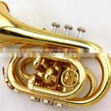 Chinese cheap gold pocket trumpet