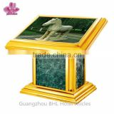 Deluxe hotel titanium ground guide lamp box DX-7, hotel lobby light box, hotel amenities supplies